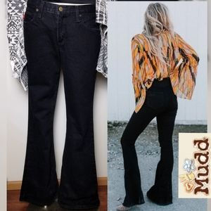 Fit & Flare Black Jeans by Mudd Sexy Boho Goth 11